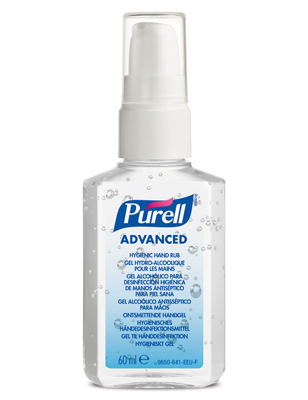 9606 PURELL ADVANCED/ CLOSE TO ME - Hygienisk Alcogel, 60ml med pump